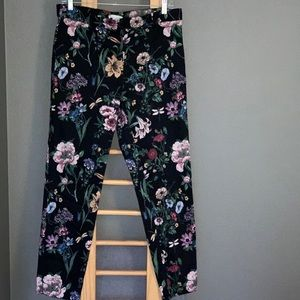 H&M floral ankle pants
